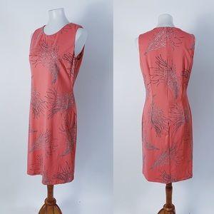 J. MCLAUGHLIN Coral Print Coral Stretch Dress